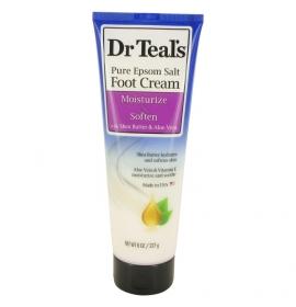 Dr Teal's Pure Epsom Salt Foot Cream av Dr Teal's Pure Epsom Salt Foot Cream with Shea Butter & Aloe Vera & Vitamin E 240 ml